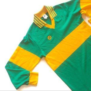 Vintage🍀70s Irish Green & Gold Jersey!